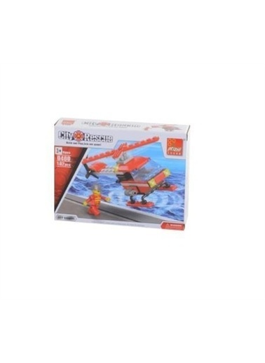 Sunman Peizhi Can-Em  İtfaye Helikopteri Figürlü Lego City Rescue 107 Parça O-Cnm-0480 Renkli